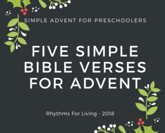 Simple Advent for Preschoolers
